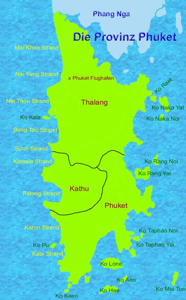 Thailand Inseln Karte.Phuket Erfahrungsbericht Provinz Thailand Insel In Andamanensee